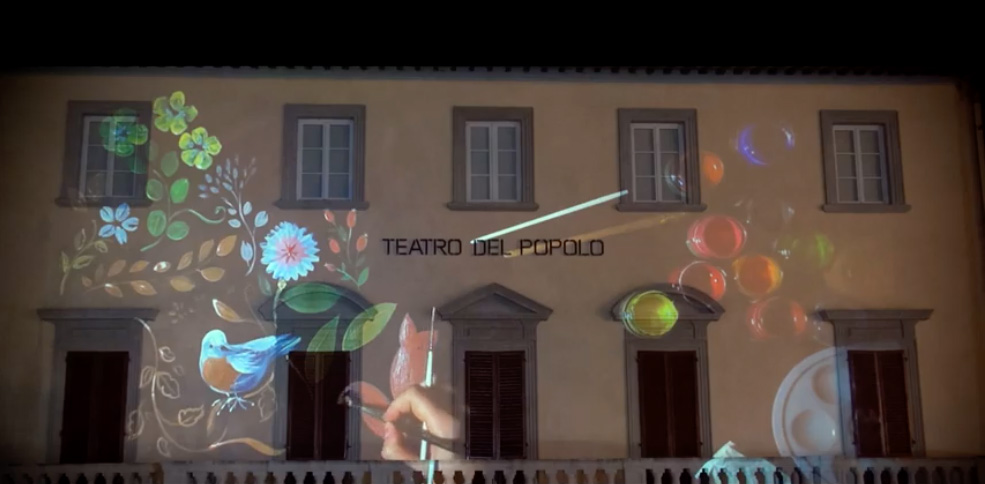 Live painting projection 3D a Castelfiorentino